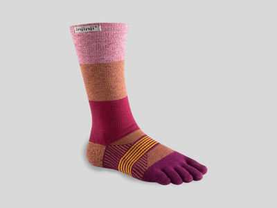 Injinji Womens Trail Crew Pomegranate