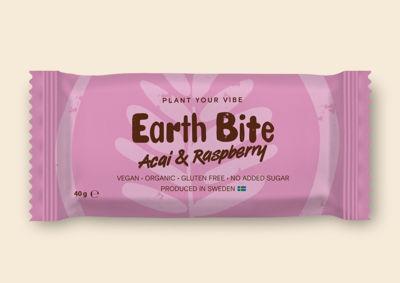 Earth Bite EKO Energibar - Acai & Raspberry 40g - Tillverkad i Sverige