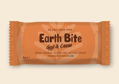 Earth Bite EKO Energibar - Goji & Cacao 40g - Tillverkad i Sverige